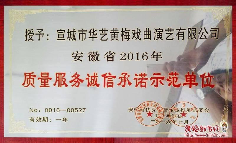 安徽省华艺黄梅戏剧团获奖图片