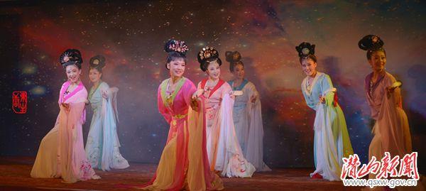 潜山县七仙女周末剧场表演节目:黄梅戏《天仙配》鹊桥剧照