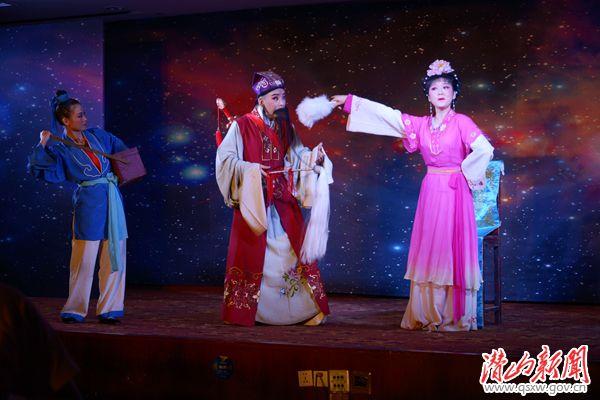 潜山县七仙女周末剧场表演节目:黄梅戏《戏牡丹》剧照