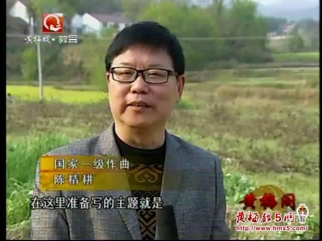国家一级作曲家陈精耕在潜山县官庄镇