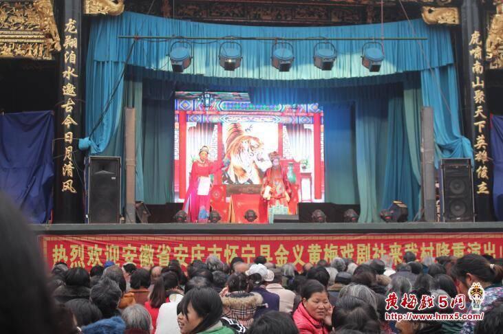 怀宁县金义黄梅戏剧社演出现场剧照